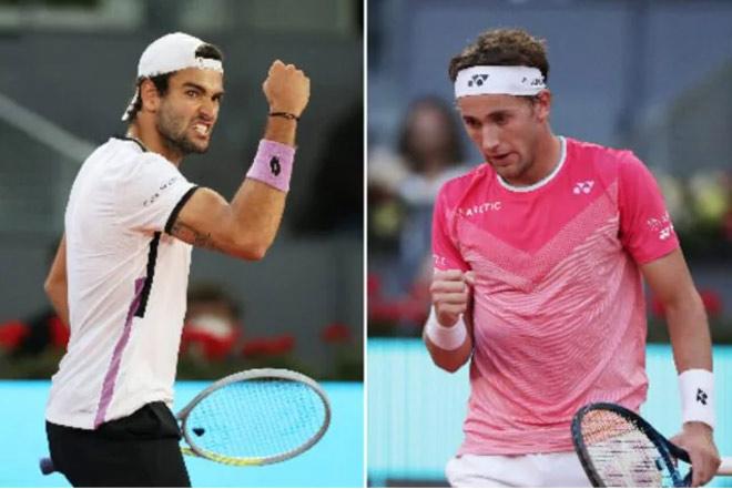 """Video tennis Ruud - Berrettini: Thuần phục """"ngựa ô"""", hiên ngang vào chung kết (BK Madrid Open) - 1"""