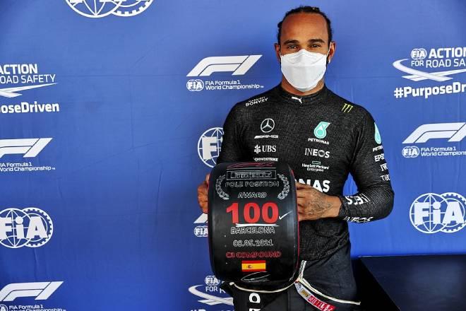 Đua xe F1 - Đua phân hạng Spanish GP: Hamilton đoạt pole thứ 100 - 1