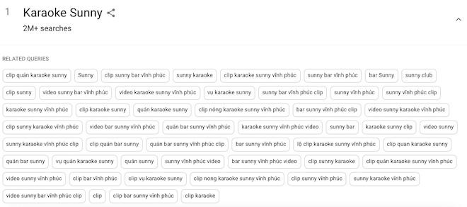 Sốc: 'Karaoke Suny' thu hút hơn 2 triệu lượt truy vấn trên Google - 1