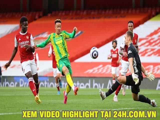 Video Arsenal - West Brom: Siêu phẩm cuối trận, xuống hạng cay đắng