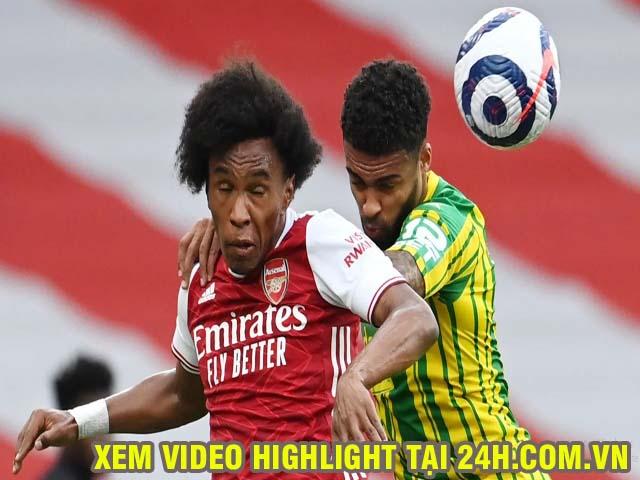 Trực tiếp bóng đá Arsenal - West Brom: Willian đá phạt thành bàn (Hết giờ)