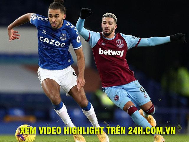 Video West Ham - Everton: Chủ công rực sáng, mộng top 4 dễ tan