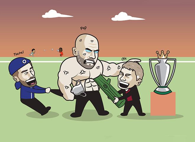 Ảnh chế: MU hợp sức cùng Chelsea ngăn cản Man City nâng cúp vô địch sớm - 1