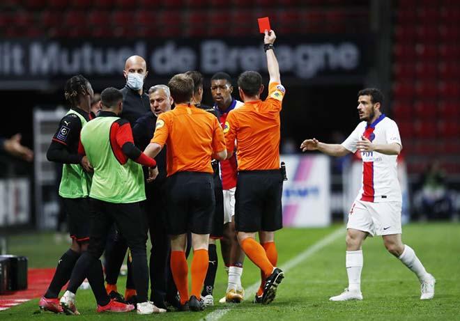 Giật mình lối đá bẩn của PSG: Bị dẫn bàn là ăn thẻ đỏ, Neymar cũng mắc tật - 1