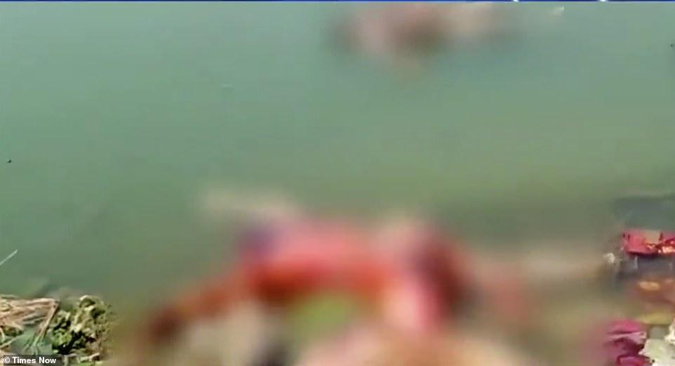 Ấn Độ: Hơn 40thi thể nghi nạn nhân Covid-19 dạt vào bờ sông Hằng - 1