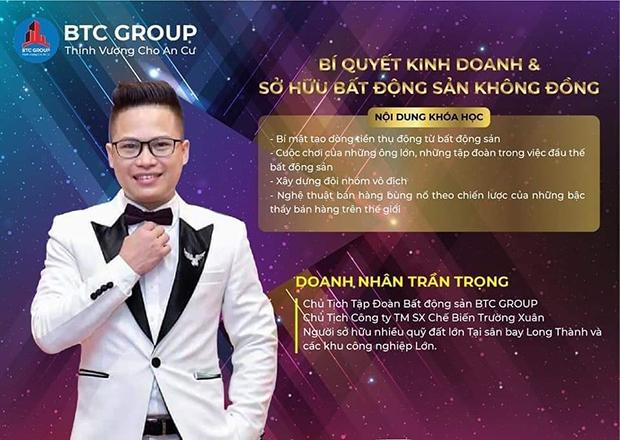 Chủ tịch BTC Group Trần Trọng - doanh nhân tâm huyết với những hoạt động vì cộng đồng - 1