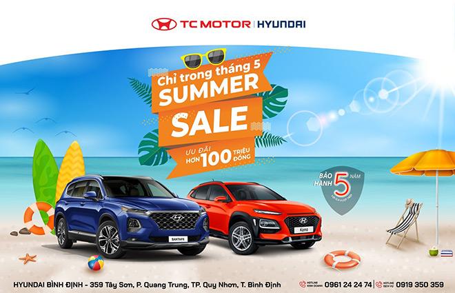 """Tham gia chương trình """"Summer Sale"""" tháng 05/2021 cùng Hyundai Bình Định - 1"""