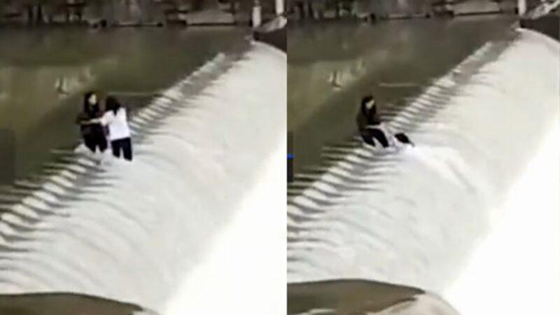 Đang chụp ảnh tự sướng bên đập nước, hai cô gái bị cuốn trôi trong tích tắc - 1