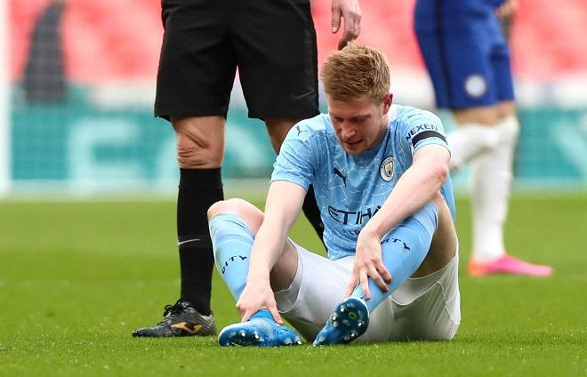 Man City nhận hung tin: De Bruyne chấn thương, có kịp đá chung kết Cúp C1? - 1