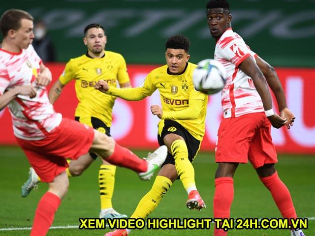 Video Leipzig - Dortmund: Sancho, Haaland đua nhau tỏa sáng, đại tiệc 5 bàn