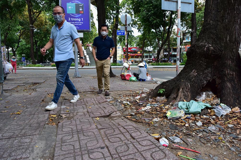 """Hình ảnh vỉa hè """"rách nát"""" quanh hồ nổi tiếng bậc nhất Sài Gòn được đề xuất """"thay áo"""" mới bằng 50 tỉ đồng - 7"""
