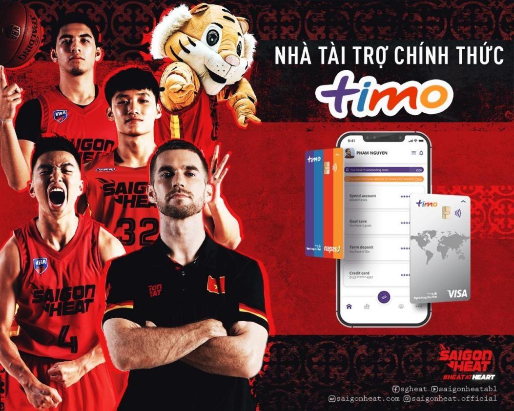 Timo trở thành nhà tài trợ chính thức của Saigon Heat tại VBA 2021 - 1