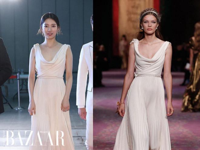 Suzy mặc váy Haute Couture thì bị chê, diện váy Dior bình thường lại được khen hết lời - 1