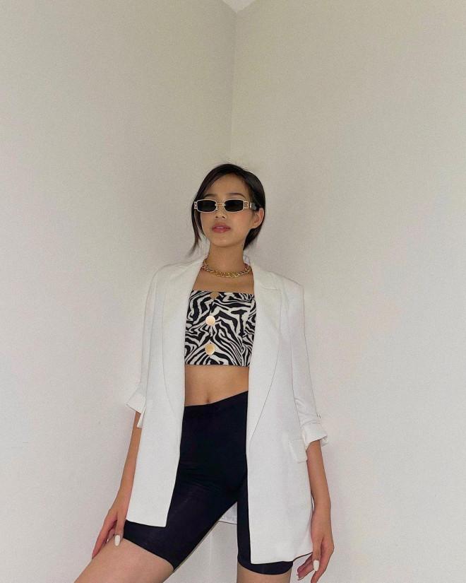 """Hoa hậu Đỗ Thị Hà đổi style ăn mặc khác hẳn mọi khi, netizen khen quá """"bắt trend"""" mùa Hè - 1"""