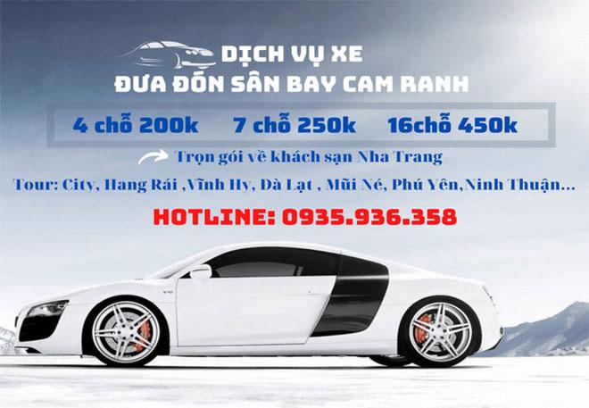 Dịch vụ xe đưa đón sân bay Cam Ranh Thu Hiền - Nha Trang giá rẻ - 2