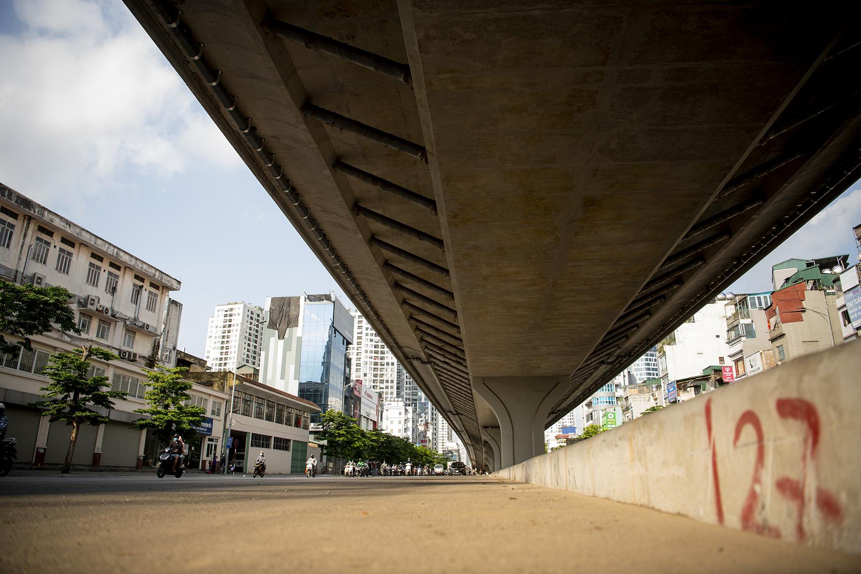 Đường vành đai 2 dưới thấp đoạn Đại La - Minh Khai dần lộ diện - 5