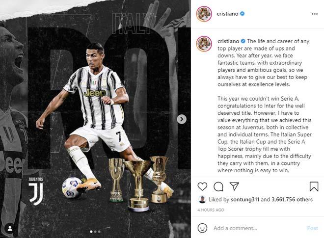 Ronaldo nói điều bất ngờ trong tâm thư mới nhất, dễ chia tay Juventus? - 1