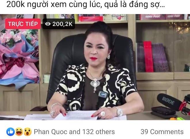 """Bà Phương Hằng livestream làm """"dậy sóng"""" Facebook, dân mạng rần rần - 1"""