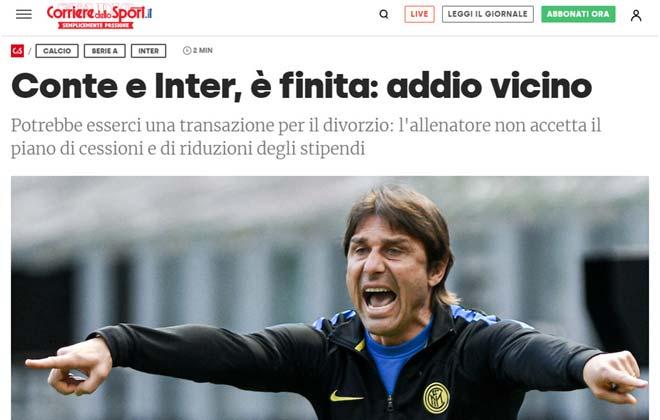 Nóng HLV Conte sắp chia tay Inter Milan, tương lai dàn cựu SAO MU mờ mịt - 1