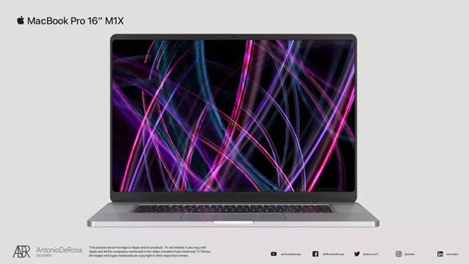 Kết xuất MacBook Pro 16 inch M1X cực sang với phong cách iPhone 12 - 1