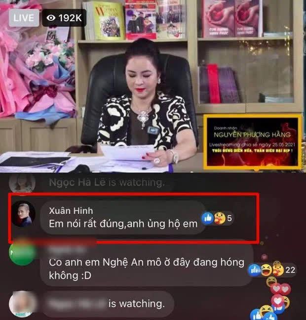 """Thực hư việc """"vua hài đất Bắc"""" Xuân Hinh bình luận ủng hộ livestream của bà Phương Hằng - 1"""