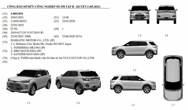 Toyota Raize 2021 đã được đăng ký bảo hộ kiểu dáng công nghiệp tại Việt Nam - 1