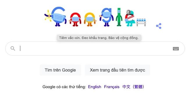 Dịch COVID-19 bùng phát tại Việt Nam, Google kêu gọi 5K ngay trang chủ - 1