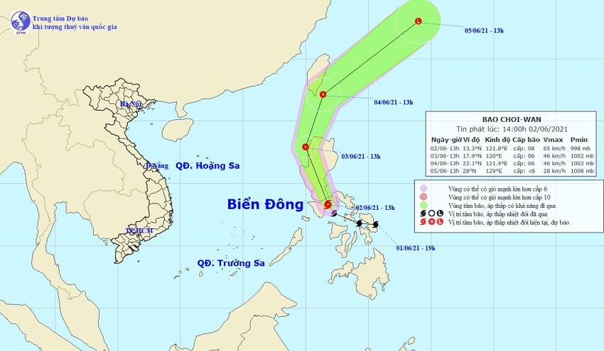 Bão Choi-wan gió giật cấp 10 xuất hiện gần Biển Đông - 1