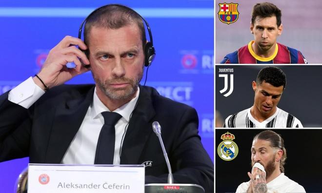 Cú sốc Real, Barca, Juventus bị cấm dự Cúp C1, UEFA phán quyết trong tuần này - 1