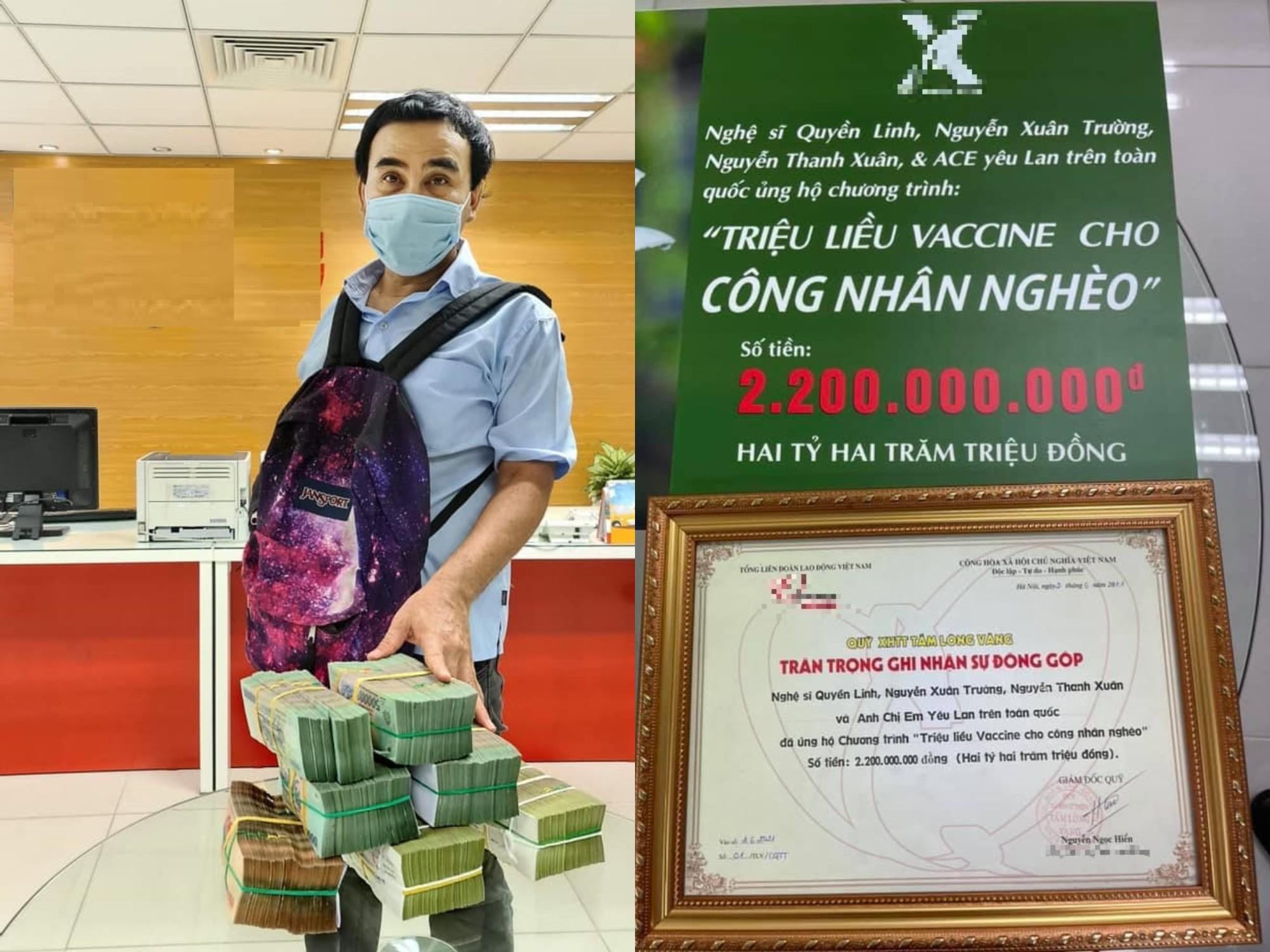 Ủng hộ MC Quyền Linh góp hơn 2 tỷ chống dịch, NS Hồng Vân và Vân Dung bị chất vấn kém duyên - 1