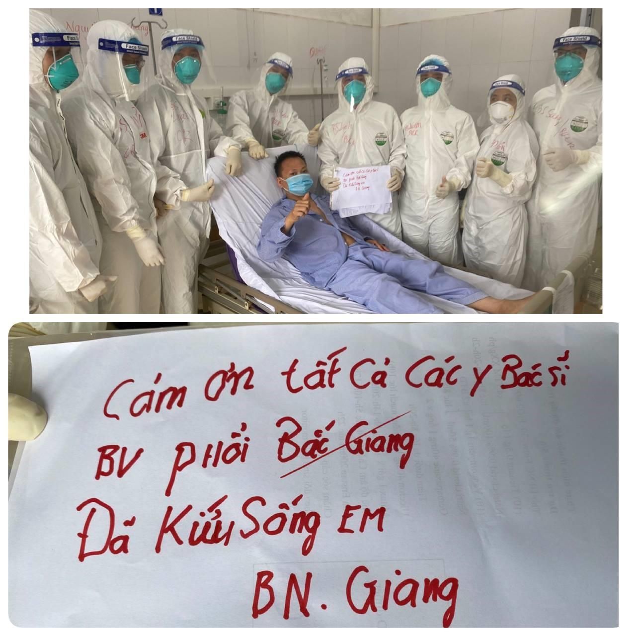 Nam thanh niên mắc COVID-19 ở Bắc Giang từng nguy kịch đã được cai máy thở - 1