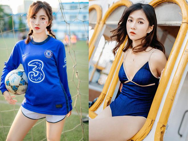 Hot girl fan Chelsea Minh Châu tung ảnh bikini mừng ngôi vô địch Cúp C1 - 1