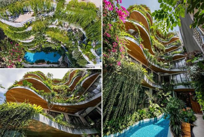 Tòa nhà cũ được cải tạo thành 'ốc đảo xanh' ở Sài Gòn khiến báo nước ngoài trầm trồ - 1