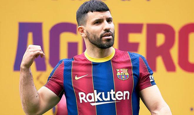 """Barca có Aguero vẫn gây sốc, mua """"chân gỗ"""" Sterling trợ chiến Messi - 1"""