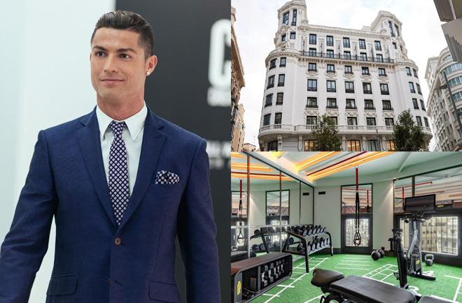 """Ronaldo khai trương khách sạn, bạn gái CR7 khoe dáng """"đồng hồ cát"""" ăn mừng - 1"""