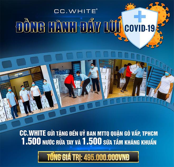 CC.White trao tặng 3.000 nước rửa tay và sữa tắm kháng khuẩn hỗ trợ Gò Vấp chống dịch Covid-19 - 1