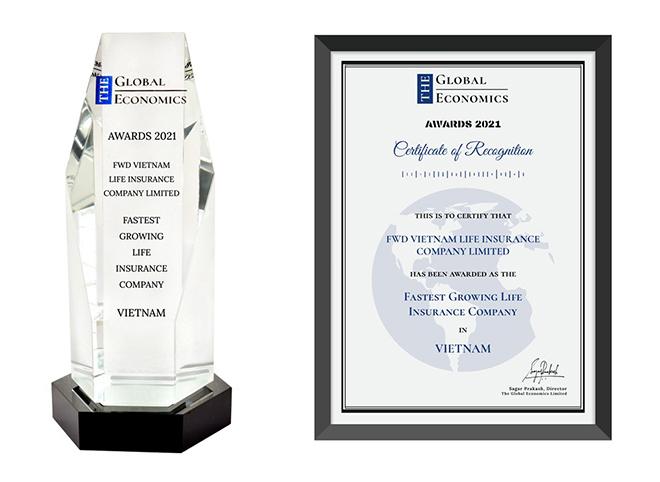 """Giải thưởng """"Công ty Bảo hiểm nhân thọ tăng trưởng nhanh nhất Việt Nam"""" của The Global Economics về tay FWD - 1"""
