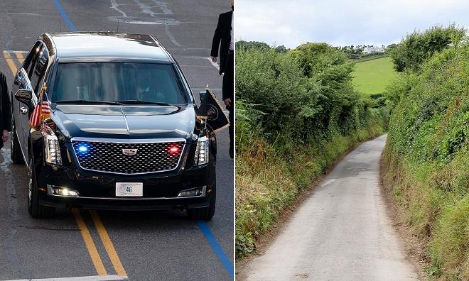 """Siêu xe """"Quái thú"""" của ông Biden gặp khó vì đường sá vùng quê ở Anh? - 1"""
