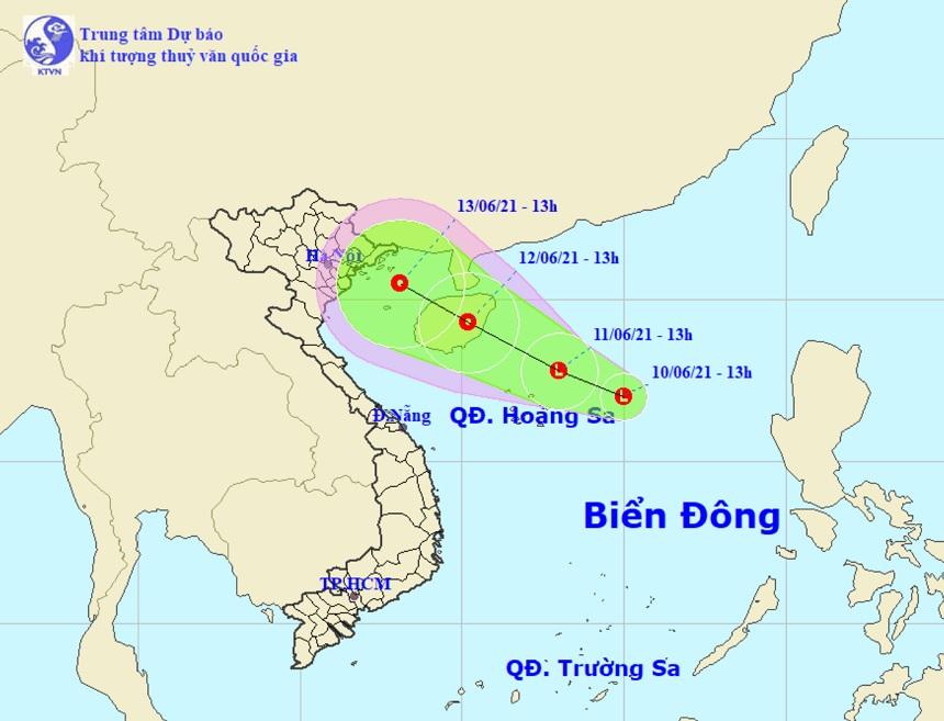 Xuất hiện vùng áp thấp trên Biển Đông, khả năng còn mạnh thêm - 1