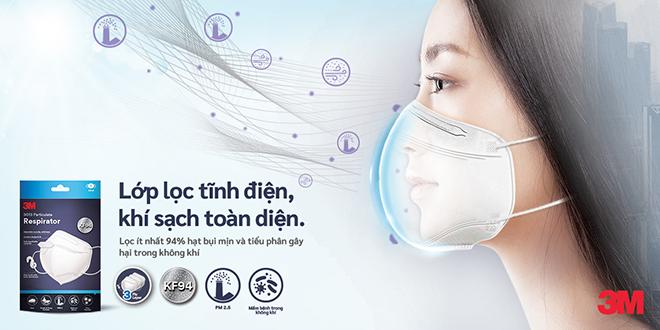 3M giới thiệu Khẩu trang tiêu chuẩn KF94 giúp bảo vệ người tiêu dùng khỏi virus, mầm bệnh trong không khí và bụi mịn - 1