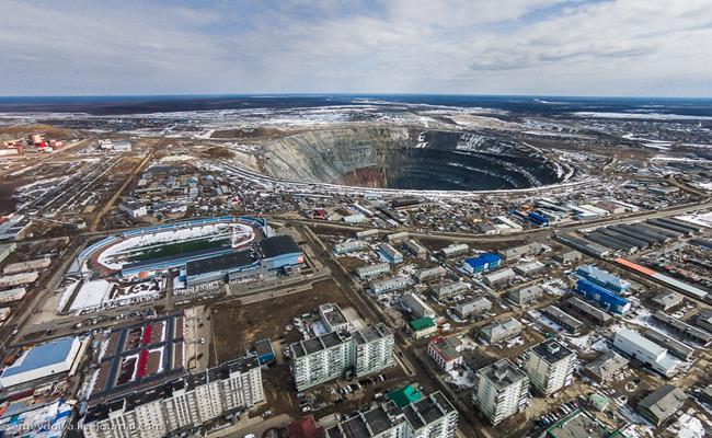 Ngoài châu Phi, mỏ kim cương Mirne ở khu vực Đông Siberia của Nga cũng được biết đến là nơi nghèo hàng đầu thế giới.