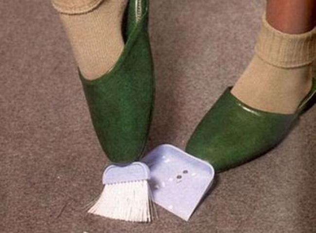 Vừa thời trang lại có thể quét dọn bất cứ lúc nào.