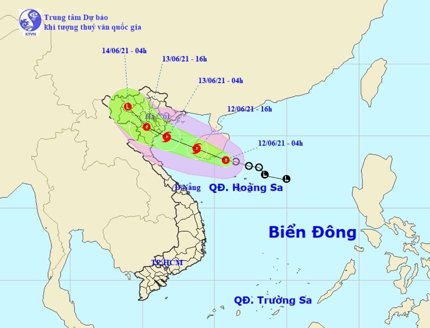 Áp thấp nhiệt đới sắp mạnh thành bão hướng vào đất liền, miền Bắc mưa to - 1