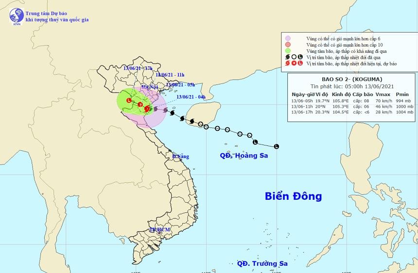 Bão số 2 đang đổ bộ Thái Bình – Nghệ An, mưa to, gió giật nhiều nơi - 1