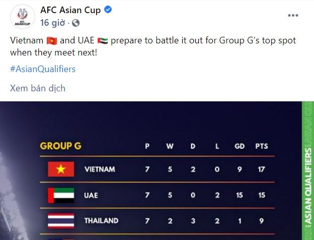 ĐT Việt Nam xây chắc ngôi đầu bảng: Dân mạng châu Á nói gì trước trận gặp UAE? - 1