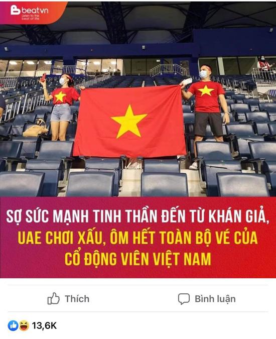 """Tin tức 24h qua:""""CĐV Việt Nam được mua 10% tổng số vé phát hành trận UAE- Việt Nam"""" - 1"""