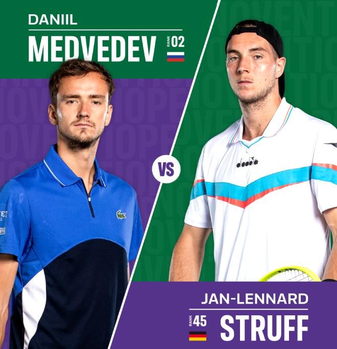 """Địa chấn vòng 1 Halle Open: Medvedev thua """"sấp mặt"""" lão tướng Struff - 1"""