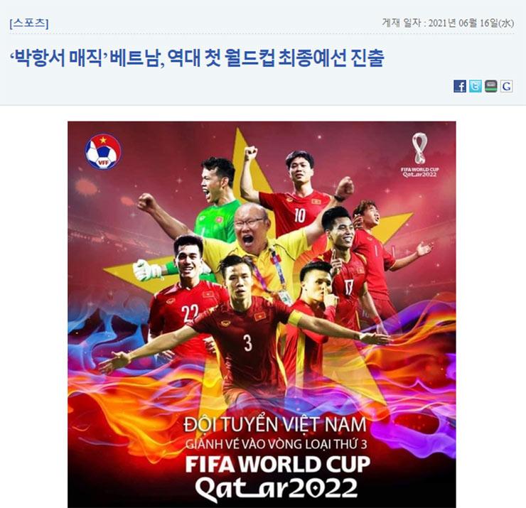 Báo Hàn Quốc ăn mừng ĐT Việt Nam lập kỳ tích mới, ví HLV Park Hang Seo như… vaccine - 1