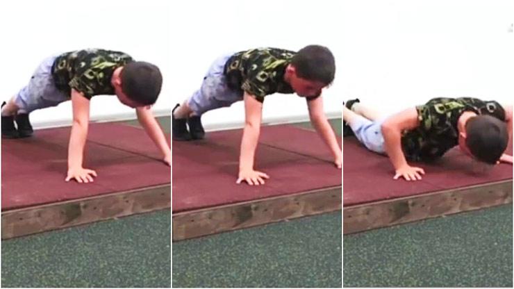 Cậu bé 10 tuổi người Nga phá kỷ lục thế giới chống đẩy trong 3 giờ rưỡi - 1