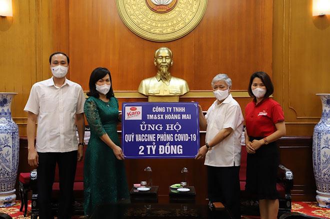 Nhãn hàng Karo phát động chương trình ủng hộ quỹ Vaccine phòng chống Covid-19 - 1